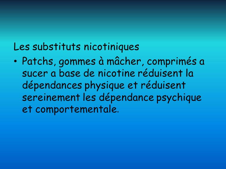 Les substituts nicotiniques