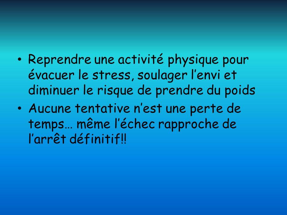 Reprendre une activité physique pour évacuer le stress, soulager l'envi et diminuer le risque de prendre du poids