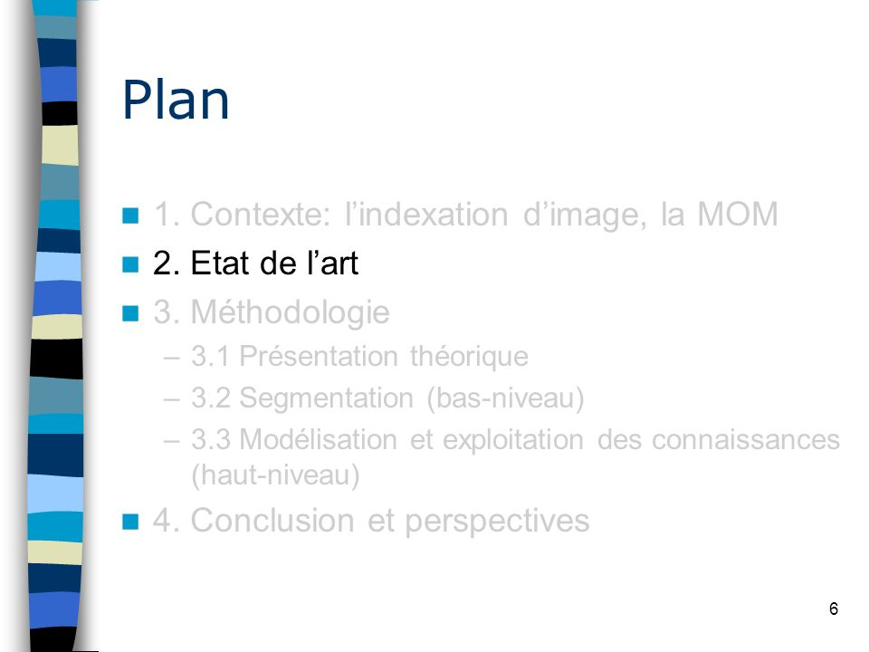 Plan 1. Contexte: l'indexation d'image, la MOM 2. Etat de l'art