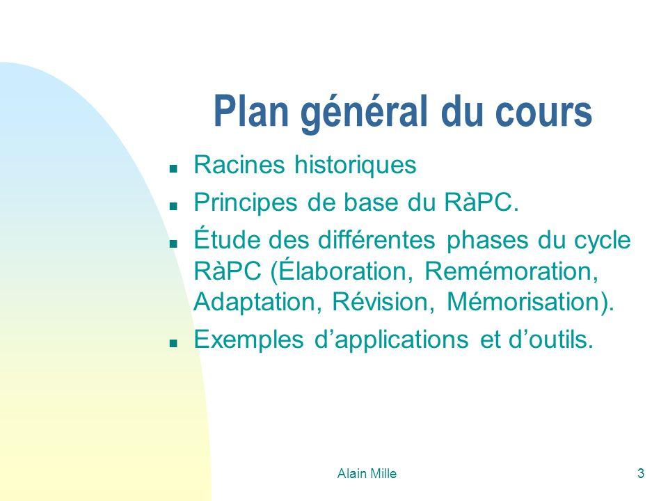 Plan général du cours Racines historiques Principes de base du RàPC.