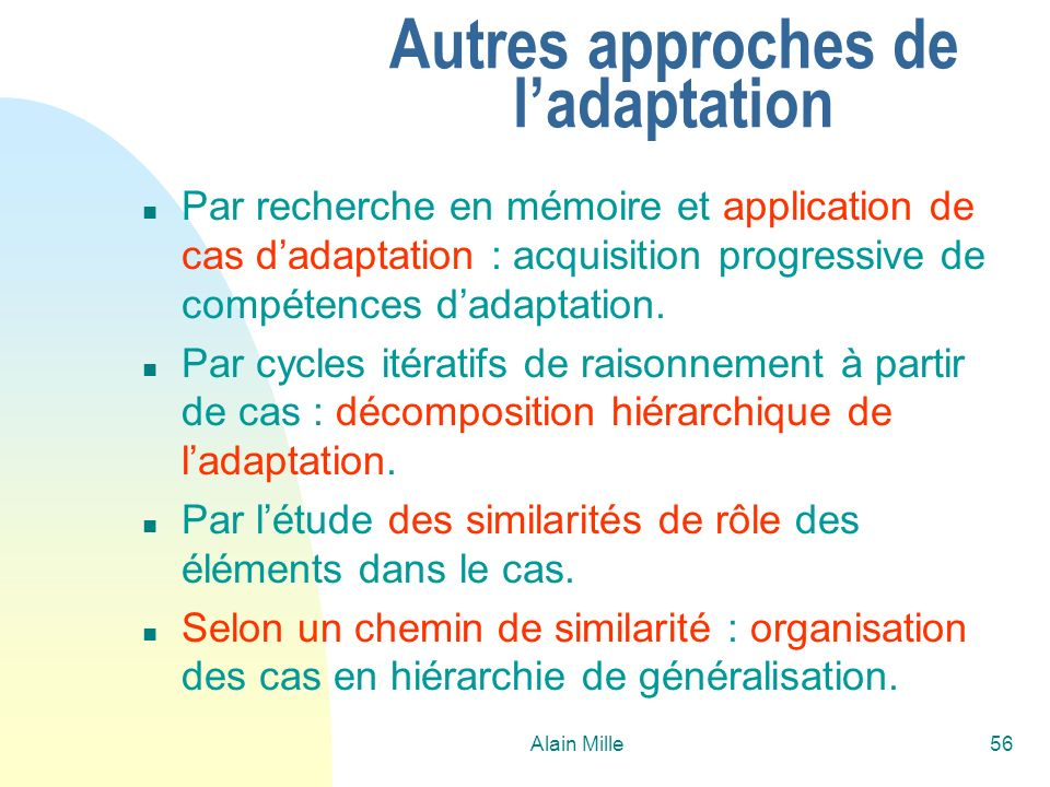 Autres approches de l'adaptation