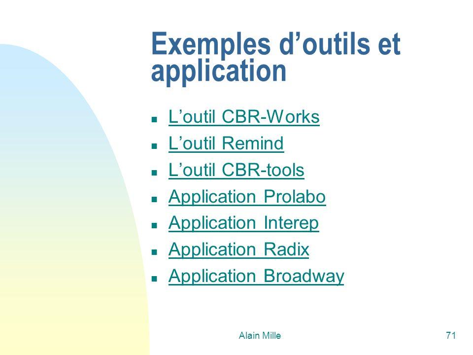 Exemples d'outils et application