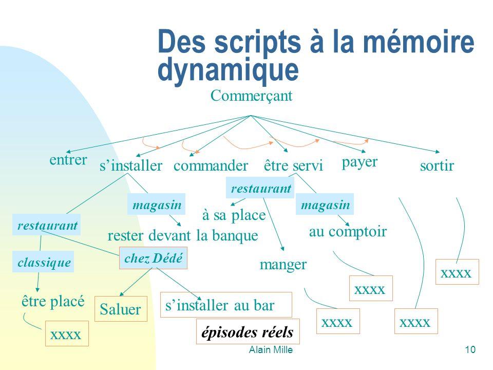Des scripts à la mémoire dynamique