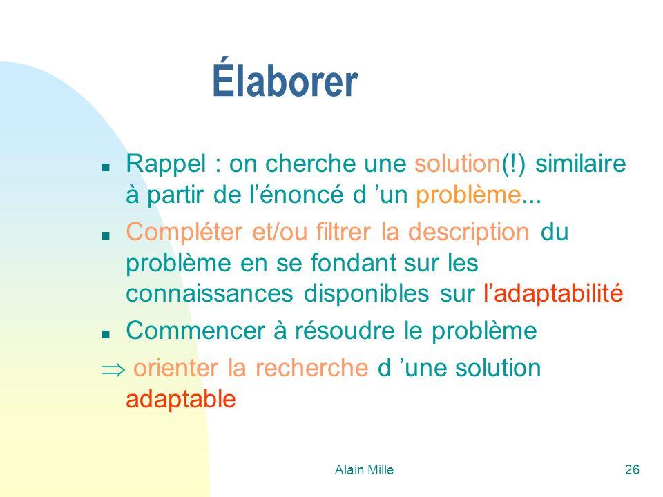26/03/2017 Élaborer. Rappel : on cherche une solution(!) similaire à partir de l'énoncé d 'un problème...