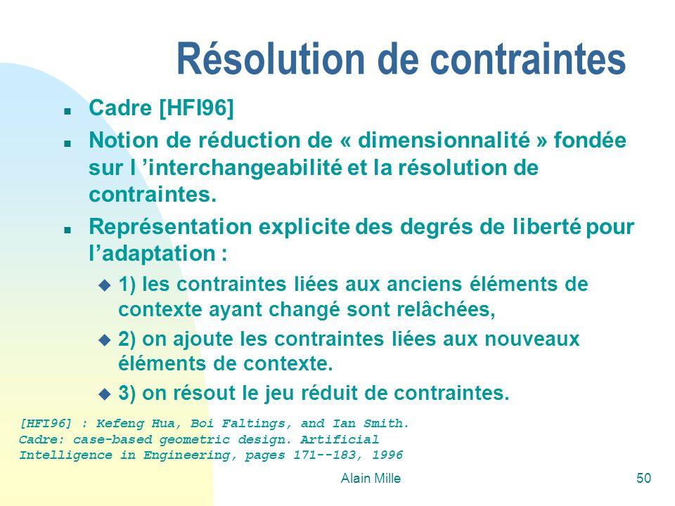 Résolution de contraintes