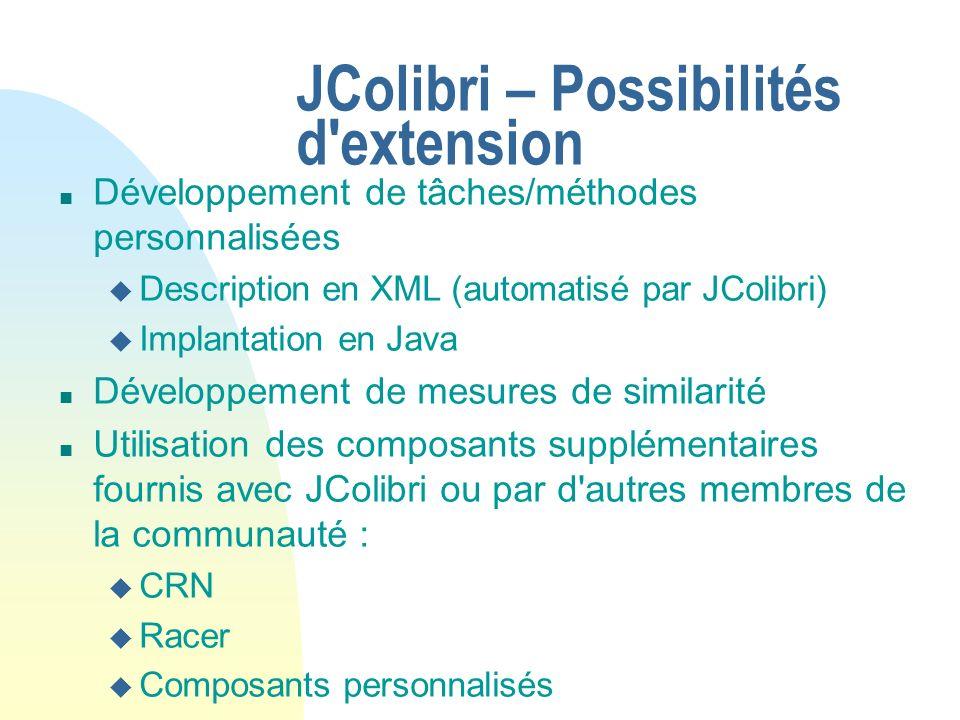 JColibri – Possibilités d extension