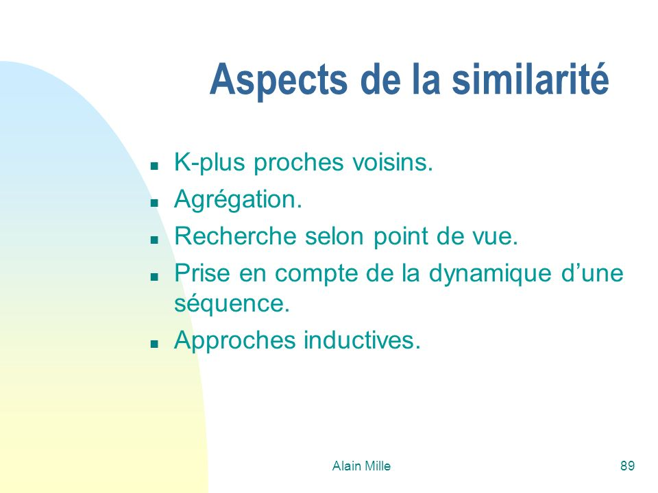 Aspects de la similarité