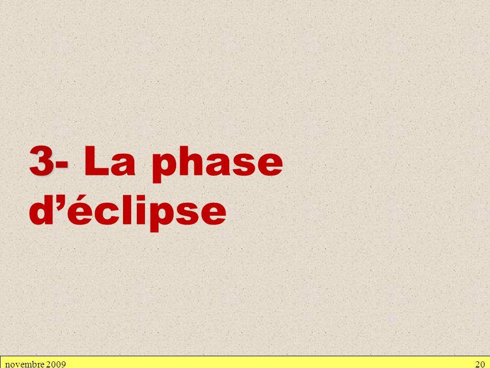 3- La phase d'éclipse novembre 2009