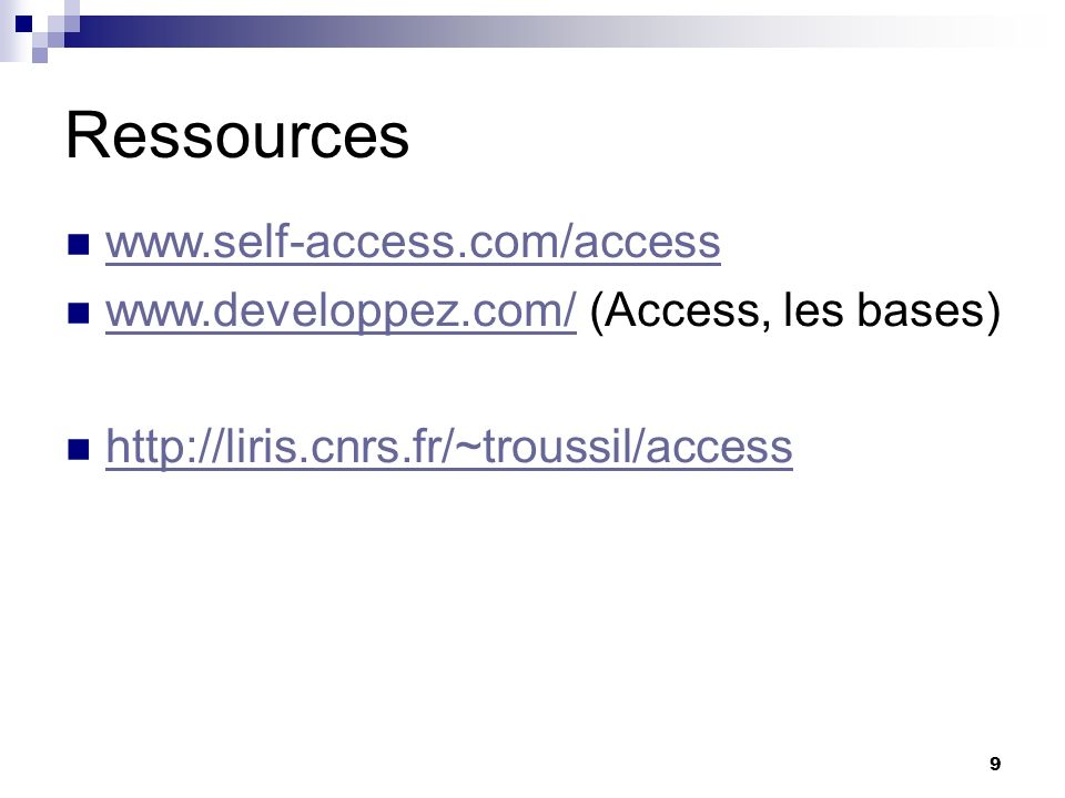 Ressources www.self-access.com/access