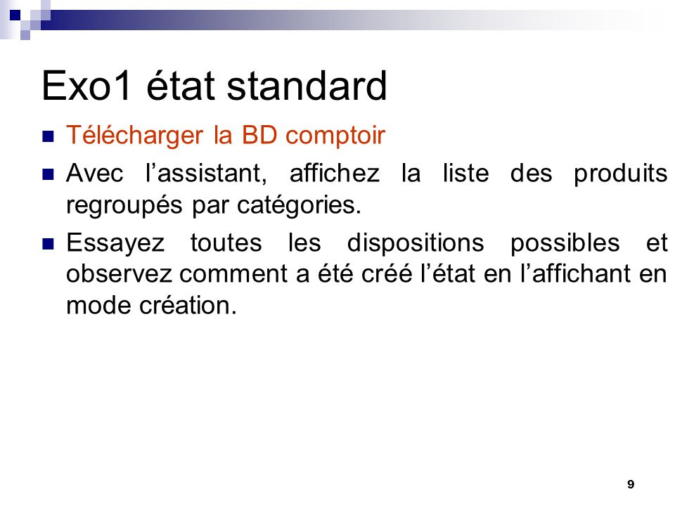 Exo1 état standard Télécharger la BD comptoir