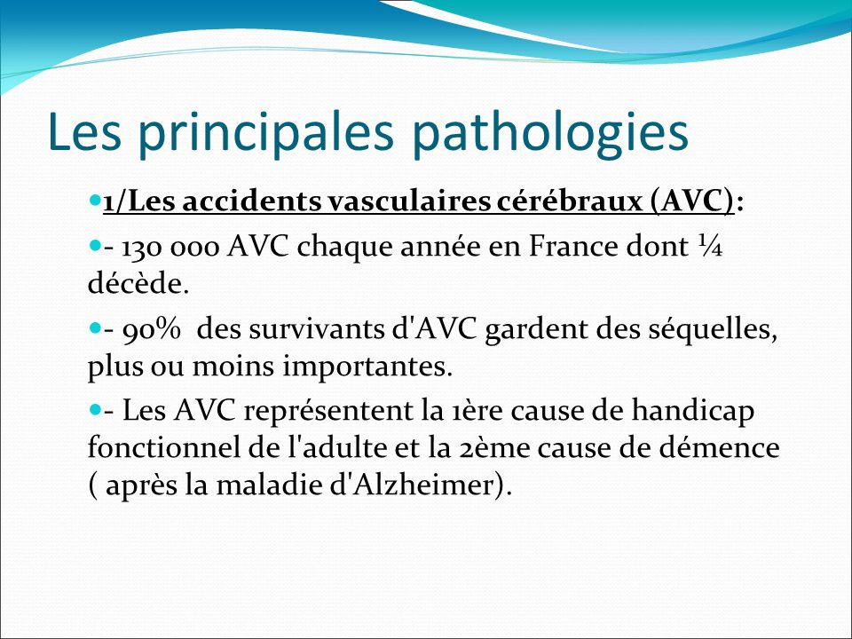 Les principales pathologies