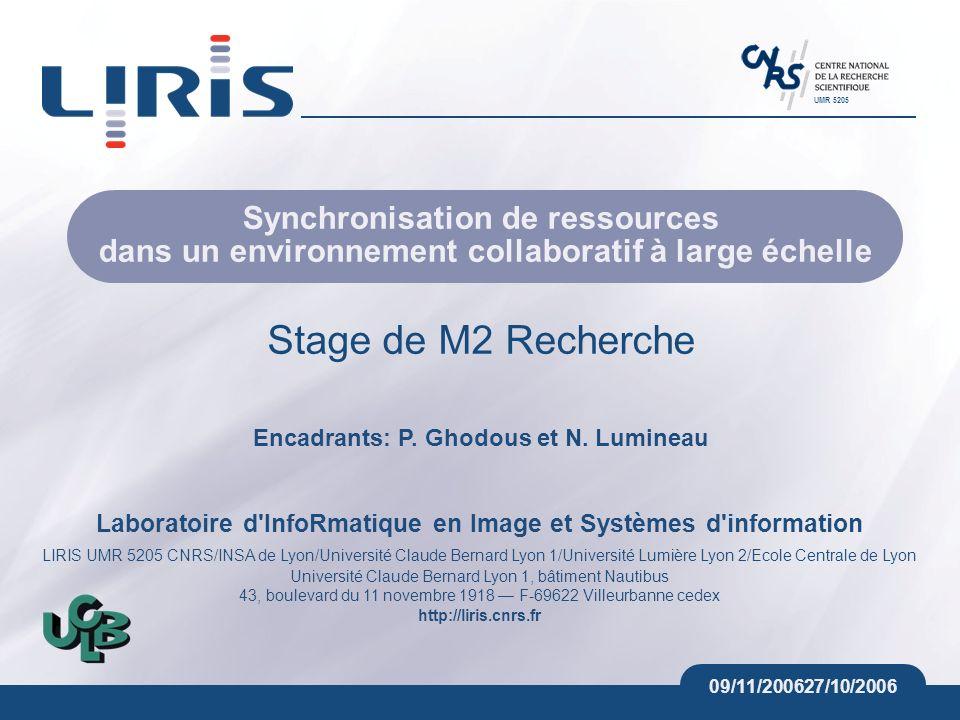 Encadrants: P. Ghodous et N. Lumineau