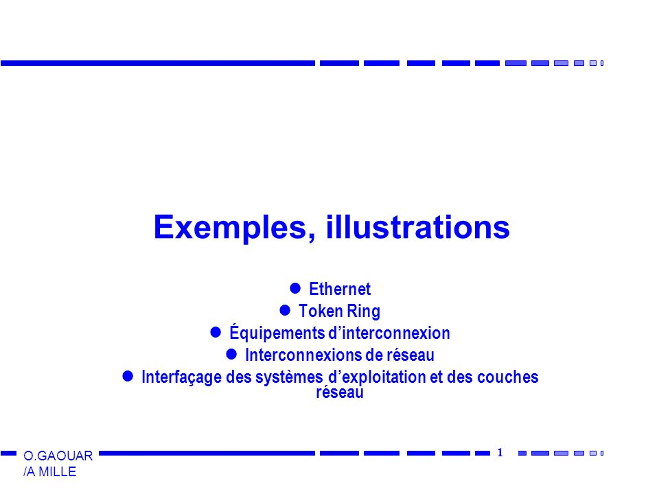 Exemples, illustrations