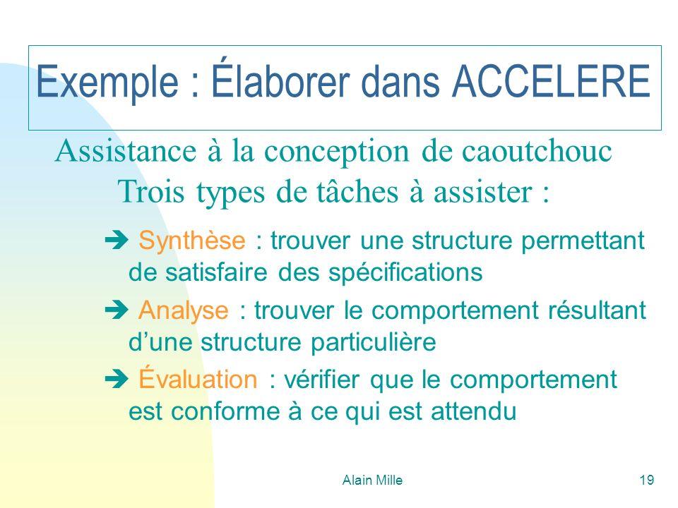 Exemple : Élaborer dans ACCELERE