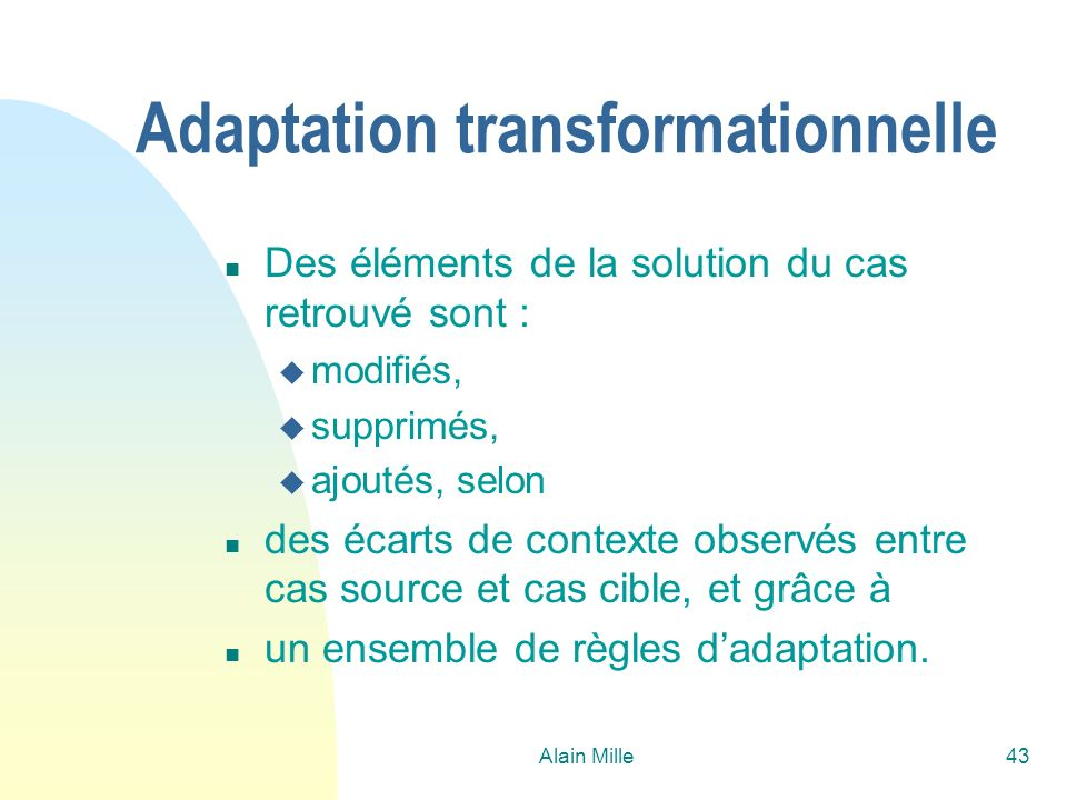 Adaptation transformationnelle