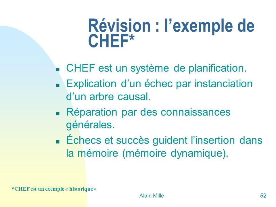 Révision : l'exemple de CHEF*