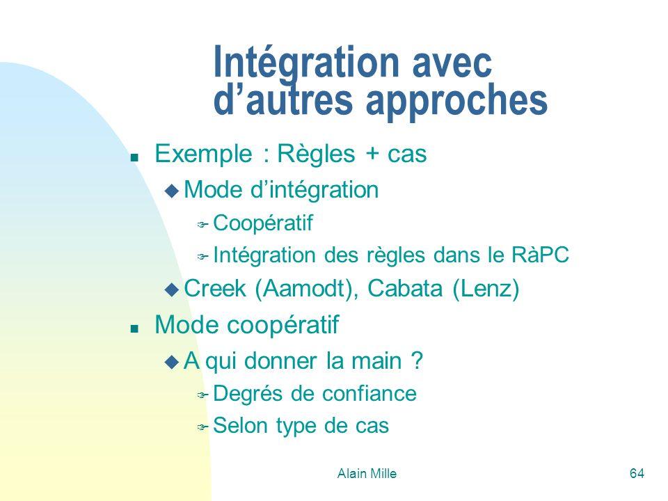 Intégration avec d'autres approches