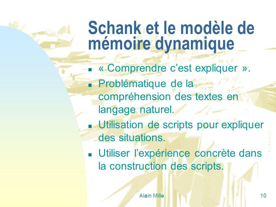 Schank et le modèle de mémoire dynamique