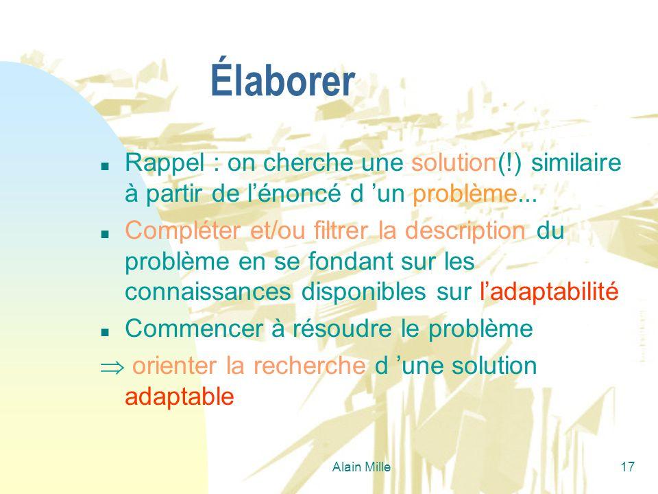 26/03/2017Élaborer. Rappel : on cherche une solution(!) similaire à partir de l'énoncé d 'un problème...