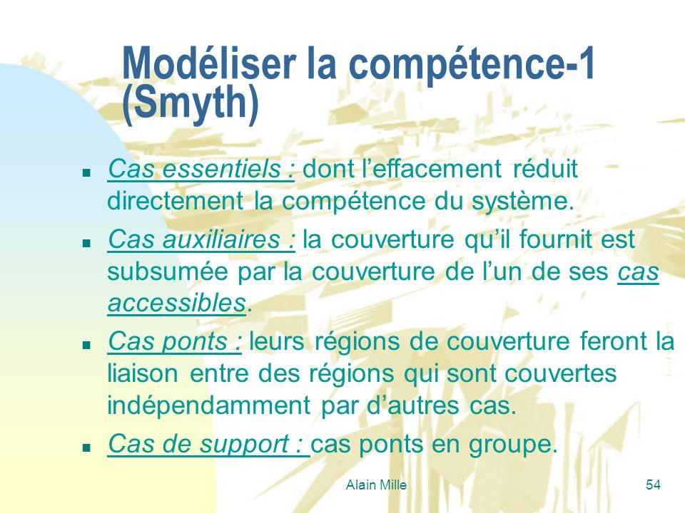 Modéliser la compétence-1 (Smyth)