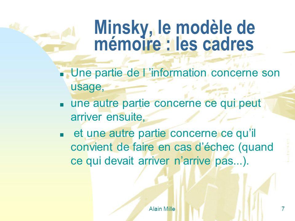 Minsky, le modèle de mémoire : les cadres