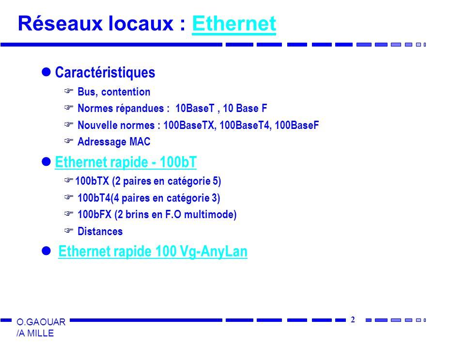 Réseaux locaux : Ethernet