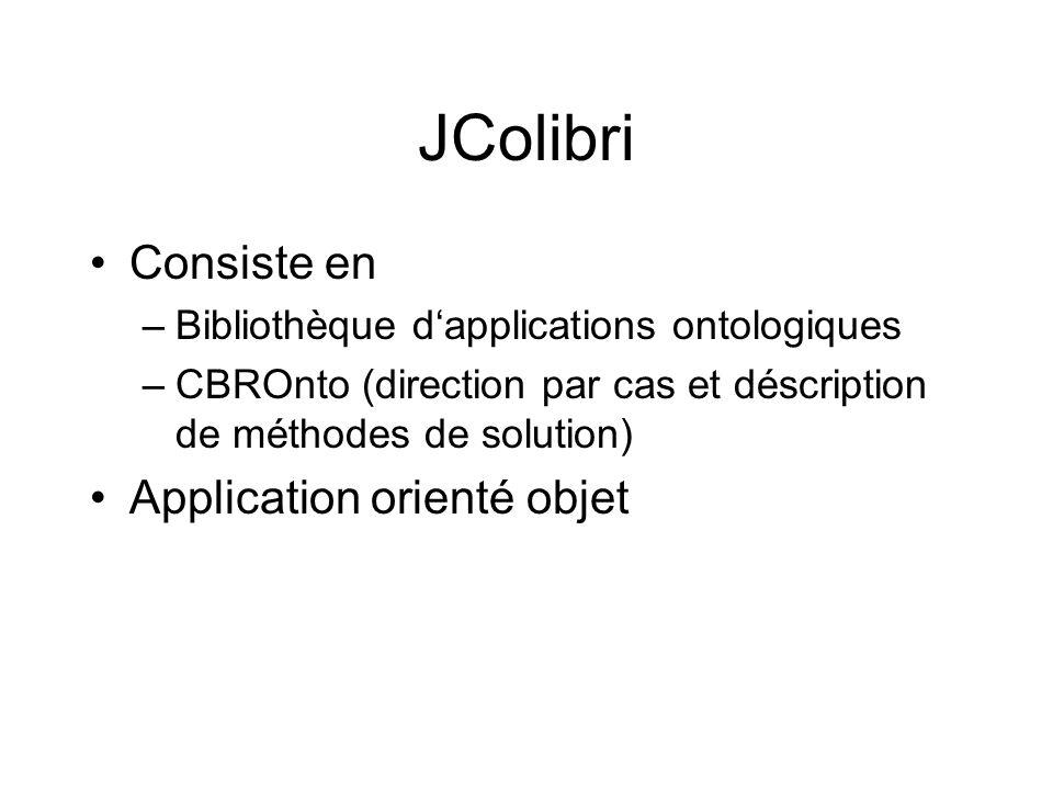 JColibri Consiste en Application orienté objet