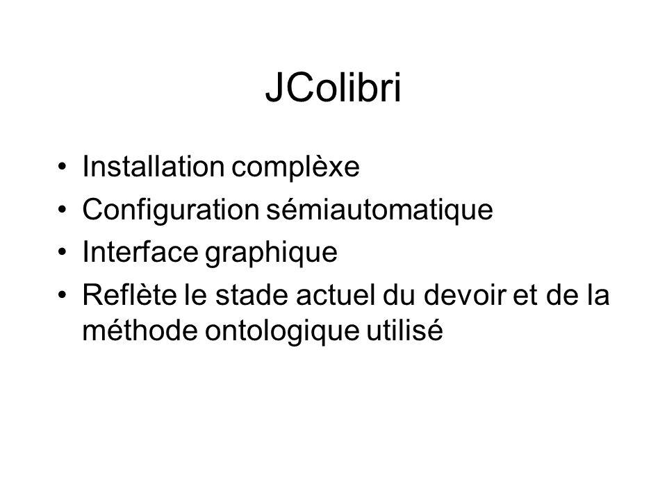 JColibri Installation complèxe Configuration sémiautomatique
