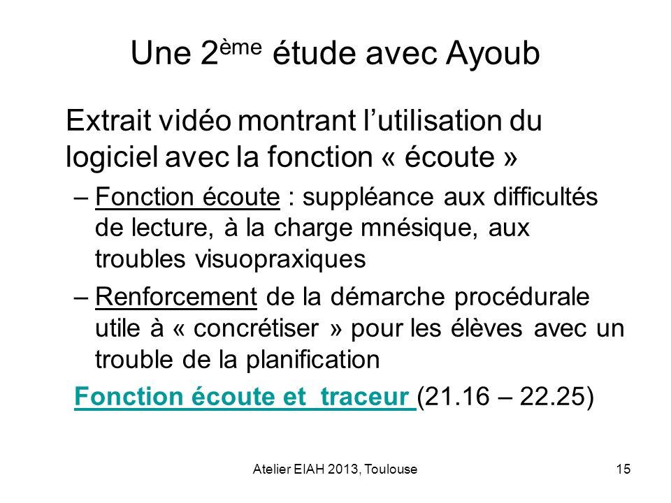 Une 2ème étude avec Ayoub