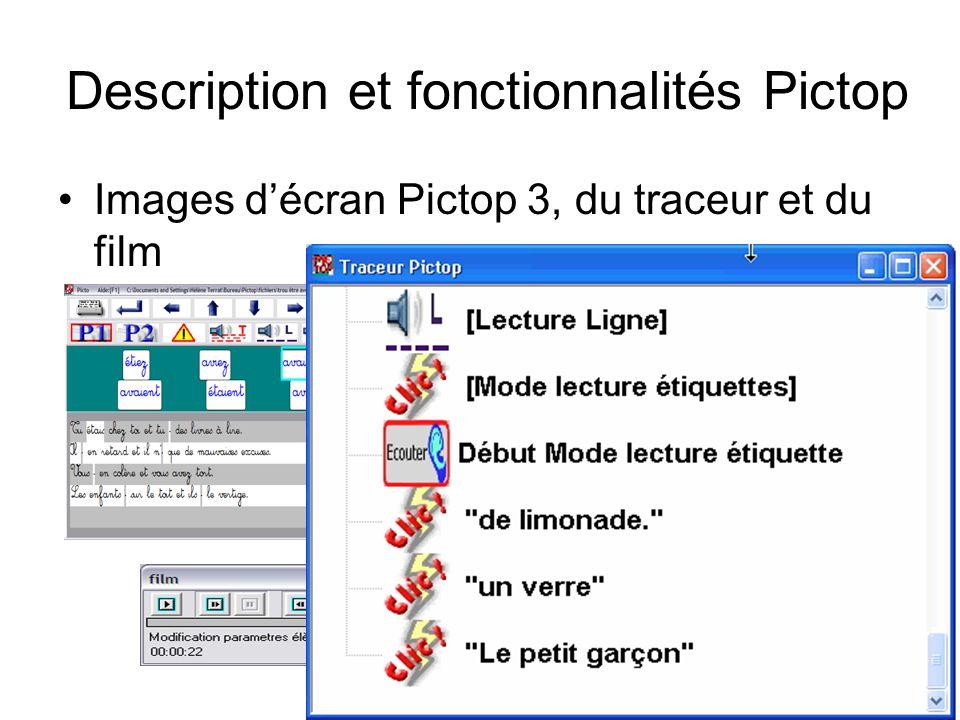 Description et fonctionnalités Pictop