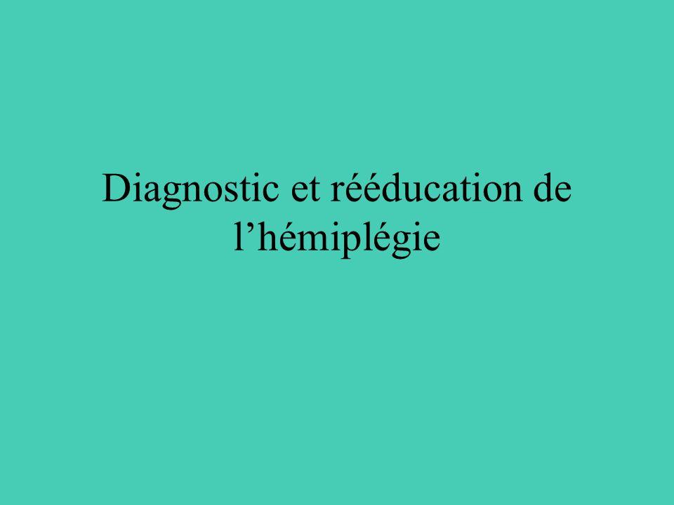 Diagnostic et rééducation de l'hémiplégie