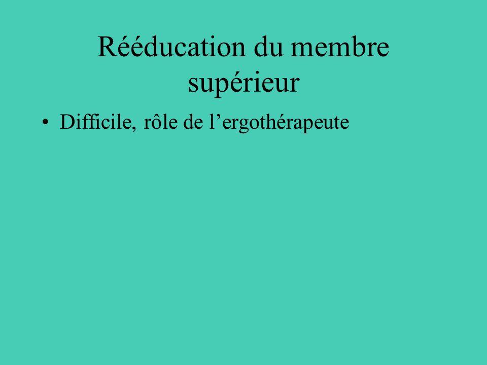 Rééducation du membre supérieur
