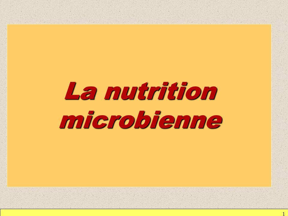 La nutrition microbienne
