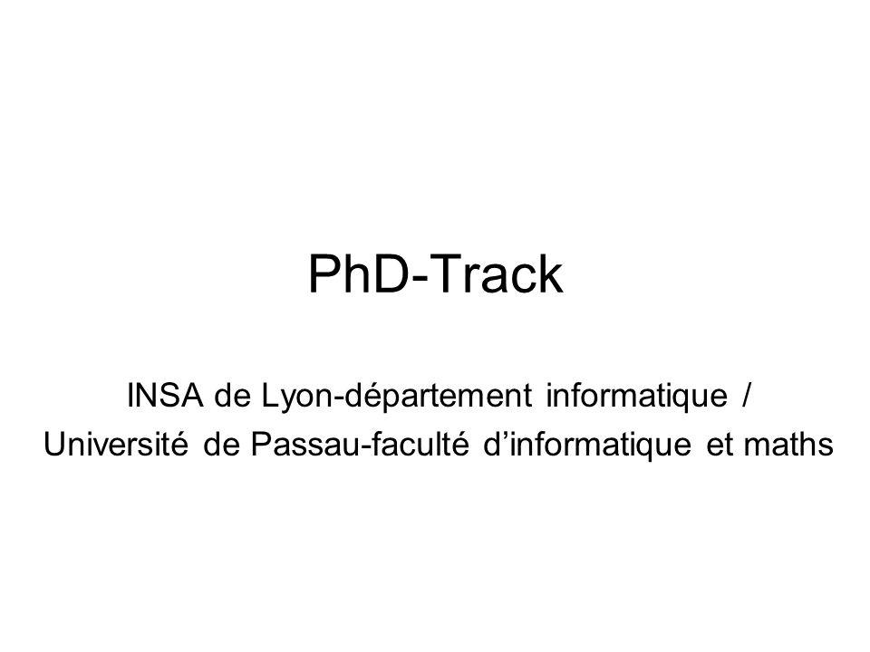 PhD-Track INSA de Lyon-département informatique /