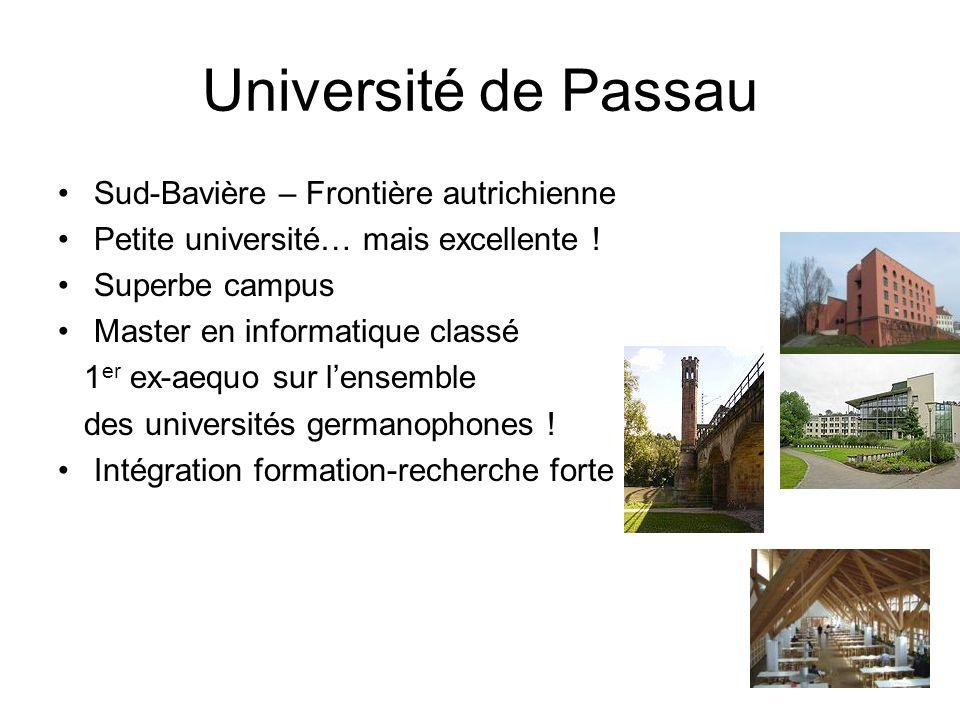 Université de Passau Sud-Bavière – Frontière autrichienne
