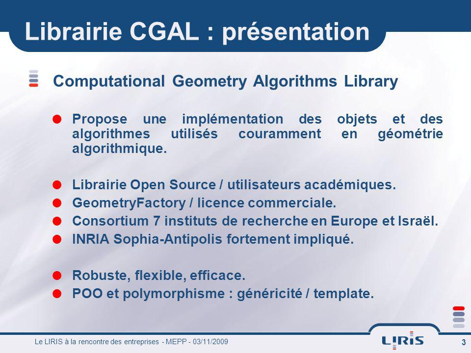 Librairie CGAL : présentation