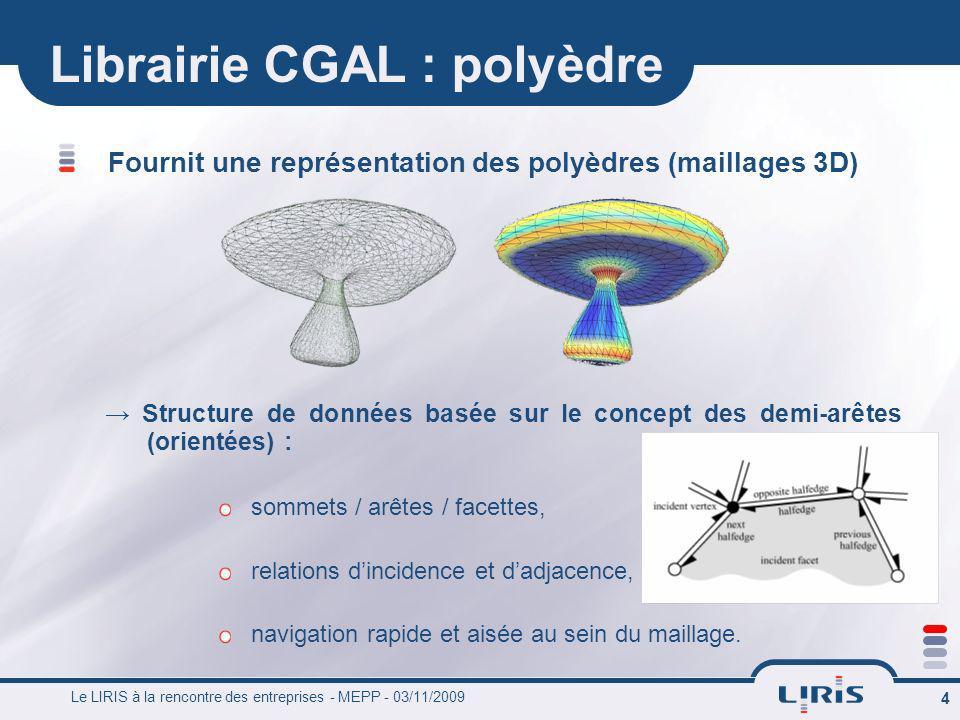 Librairie CGAL : polyèdre
