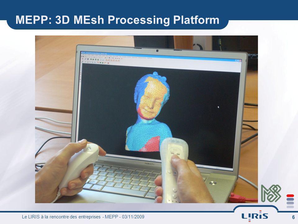 MEPP: 3D MEsh Processing Platform