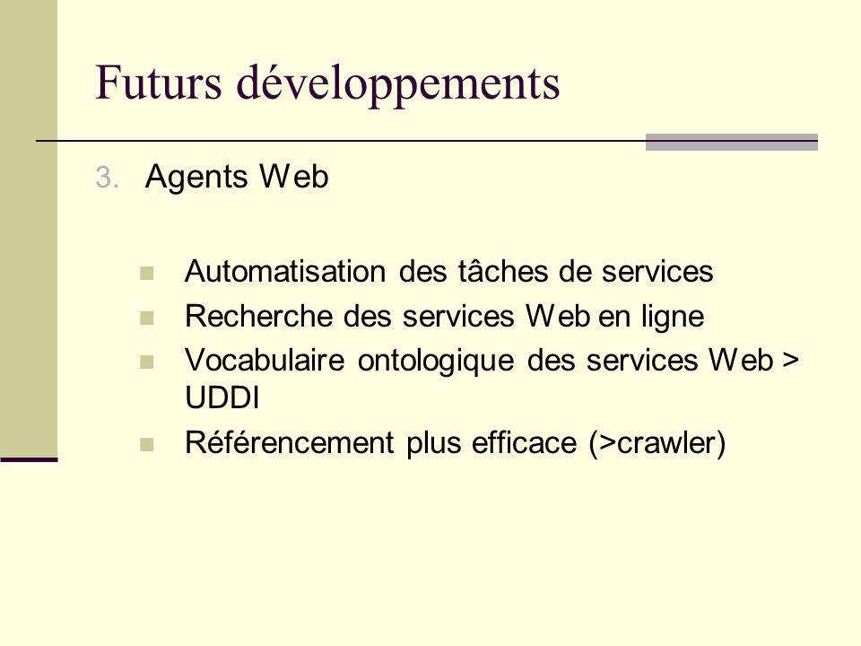 Futurs développements