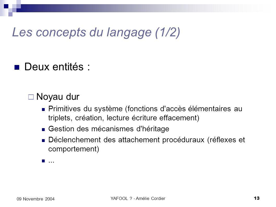 Les concepts du langage (1/2)