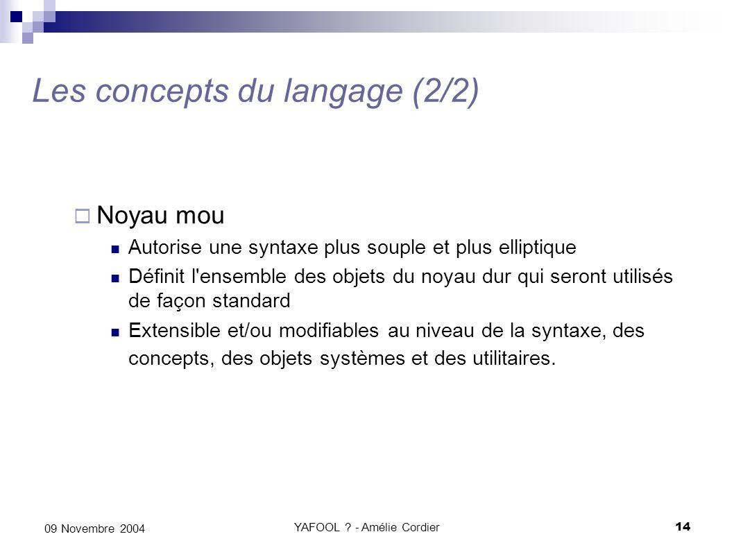 Les concepts du langage (2/2)