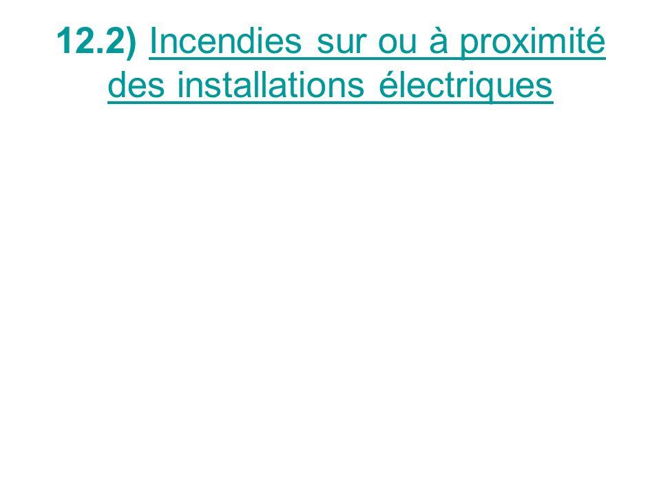 12.2) Incendies sur ou à proximité des installations électriques