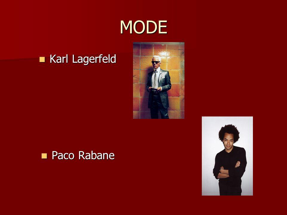 MODE Karl Lagerfeld Paco Rabane