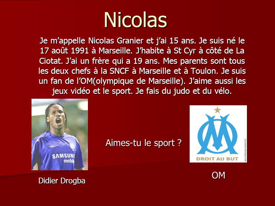 Nicolas Aimes-tu le sport OM