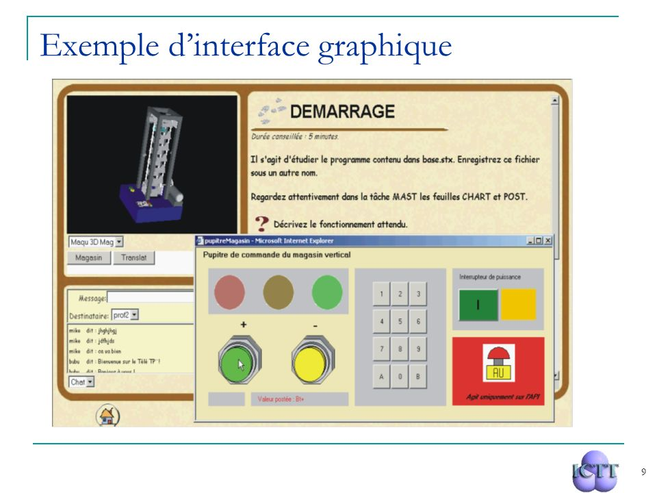 Exemple d'interface graphique