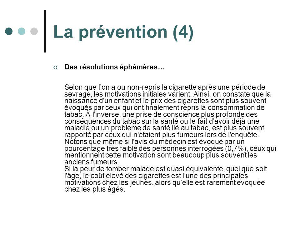 La prévention (4)