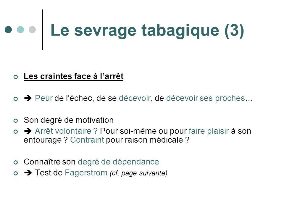 Le sevrage tabagique (3)