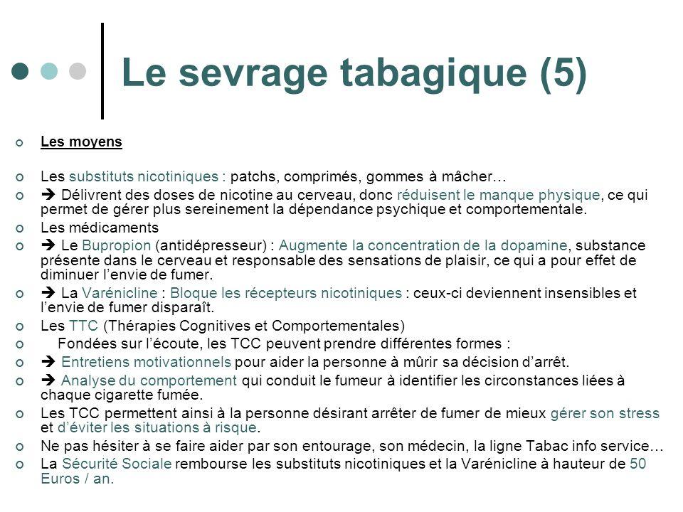 Le sevrage tabagique (5)