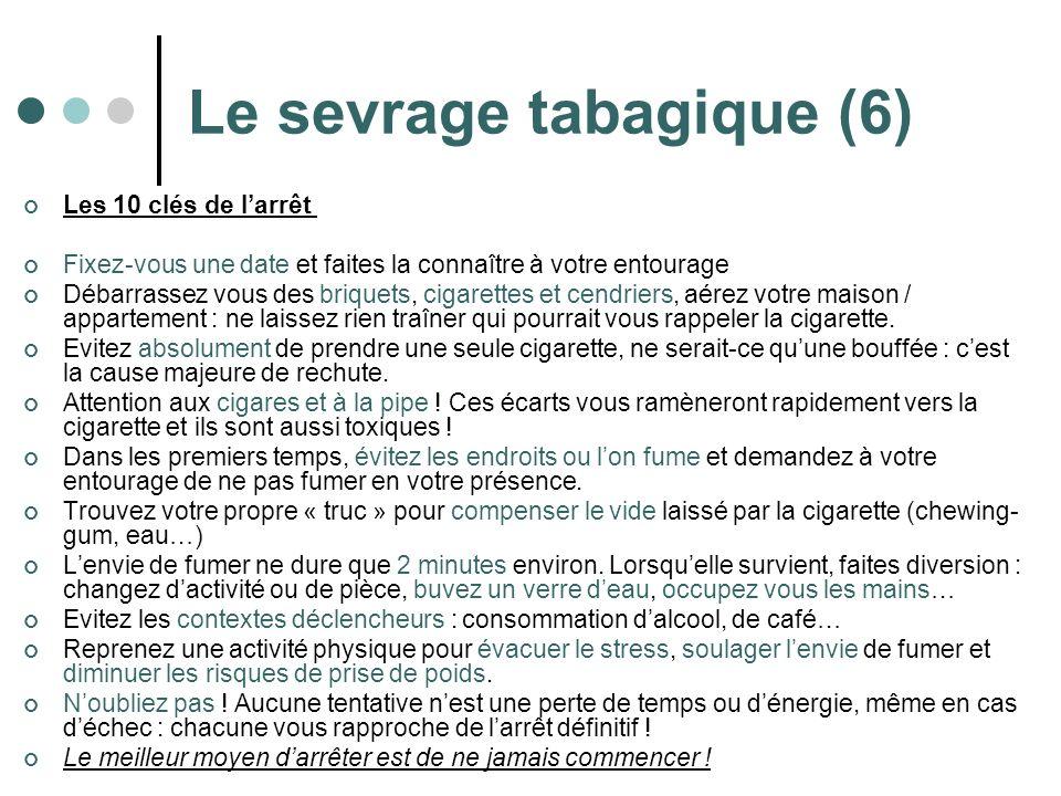 Le sevrage tabagique (6)