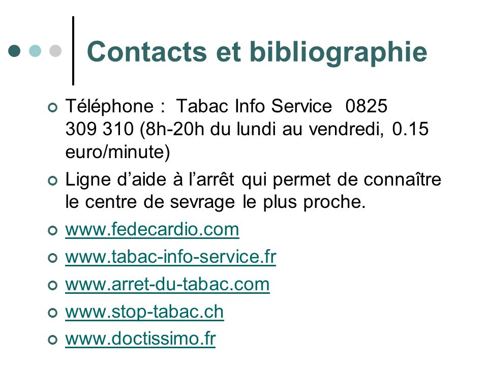 Contacts et bibliographie